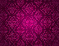 Purple damask pattern Stock Photography