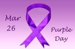 Purple Day Awareness. Purple day is March 26th. Purple Day is for increasing awareness about epilepsy worldwide stock photos