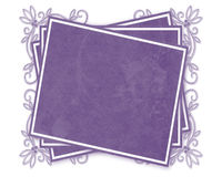 Purple Decorated Tag Stock Photos