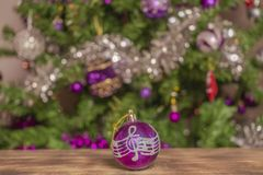 A lovely ball decoration for Christmas tree royalty free stock image