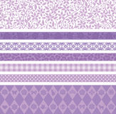 Purple decoration line. Set of purple decoration lines Royalty Free Stock Images