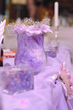 Purple decoration on wedding Royalty Free Stock Photo