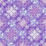 Purple decorative background tile with geometric floral motif Stock Photography