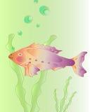Purple decorative fish. Vector image Stock Image