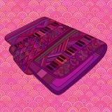 Purple decorative pocketbook. Stock Photo