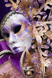 Purple decorative venetian mask Royalty Free Stock Images