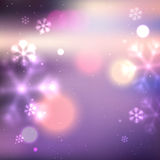 Purple defocused winter background Royalty Free Stock Photos