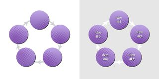 Purple diagram with pattern Royalty Free Stock Photo