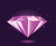 Purple diamond – VECTOR Royalty Free Stock Photography