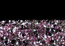 Purple diamond jewel stones luxury background Stock Photo