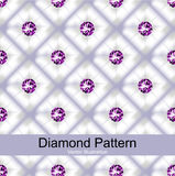 Purple Diamond Pattern Vector Stock Photography