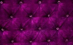 Purple diamond pattern velvet upholstery background Royalty Free Stock Image