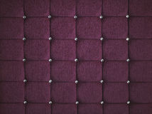 PURPLE DIAMOND STUDDED PADDED FABRIC BACKGROUND Stock Photography
