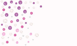 Purple diamonds decorative vector background Stock Image