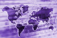 Purple Digital Global Concept Royalty Free Stock Photography