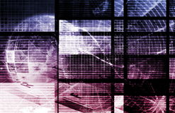 Purple Digital Network Stock Photography