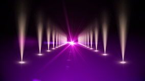 Purple digital walkway with spotlights stock video footage