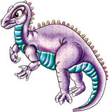 Purple dinosaur Stock Images