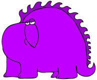 Purple Dinosaur Royalty Free Stock Image