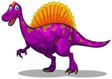 Purple dinosaur with sharp claws Royalty Free Stock Images