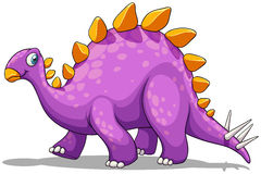 Purple dinosaur with spikes tail Stock Photography