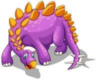 Purple dinosaur with spikes tail Stock Image