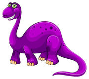 Purple dinosaur standing alone Stock Photo