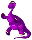 Purple dinosaur standing up Royalty Free Stock Photo