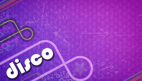 Purple disco background Stock Image