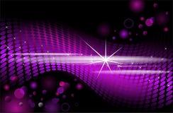 Purple disco background, vector background. Stock Photos