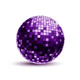 Purple Disco Ball Stock Photo