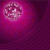 Purple disco lights backdrop Royalty Free Stock Photos