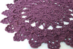 Purple doily Stock Photography