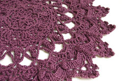Purple doily Stock Images