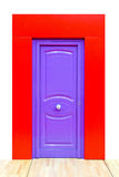 Purple door Stock Images