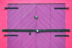 Purple door closed Royalty Free Stock Image