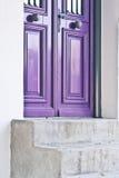 Purple door Royalty Free Stock Photography
