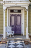 Purple door of a house in Nevada City Stock Photography