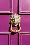 Purple door Royalty Free Stock Image