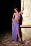 in purple door pijler Royalty-vrije Stock Foto's