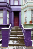 Purple doorway Stock Image