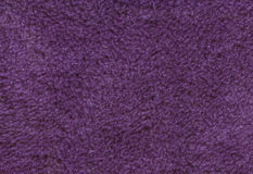 Purple double sided terry towelling fabric texture background Royalty Free Stock Image