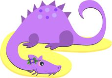Purple Dragon Royalty Free Stock Photos