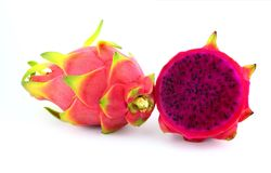 Purple dragon fruit Royalty Free Stock Photos