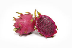 Purple dragon fruit Royalty Free Stock Images