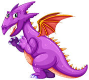 Purple dragon Royalty Free Stock Photography