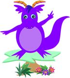 Purple Dragon on a Platform stock illustration