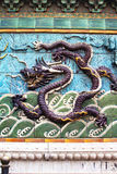 Purple dragon wall tiles Stock Photos