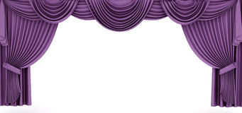 Purple drapery frame Royalty Free Stock Image