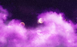 Purple Dream Wave Nebula Stock Image